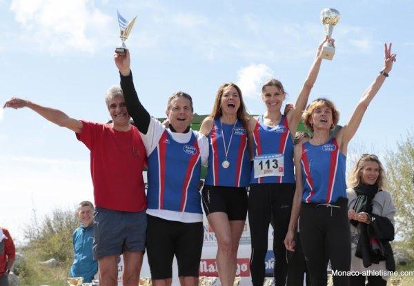 Ascension du Col de Vence 2019 - L'équipe féminine de l'ASPTT Nice Côte d'Azur 2ème