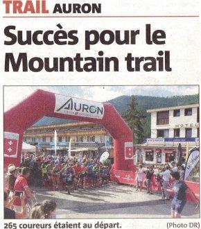 Mountain Trail Côte d'Azur - MTCA 2019 (Auron) - Emma Estève 3ème scratch sur 6 km. Pierre Touati 8ème sur 13 km