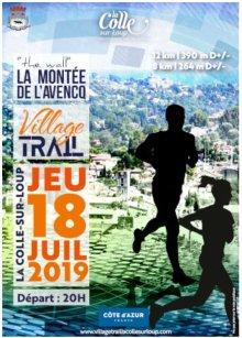 Village Trail La-Colle-sur-Loup 2019 (06) - Amandine Ginouves 2ème sur 12 km