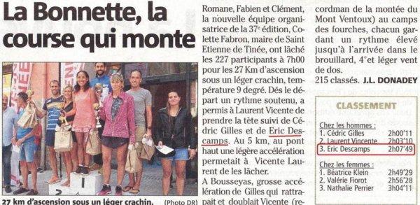 Ascension Pédestre de la Bonette 2019 (Saint-Etienne-de-Tinée) - Eric Descamps 3ème