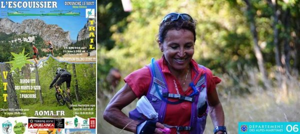 Trail de l'Escouissier 2019 (Saint-Auban, 06) - Isabelle Belia 3ème femme sur 14 km