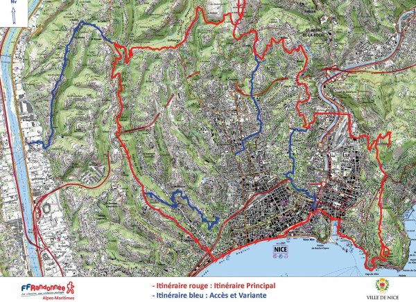 Lou Camin Nissart - Une boucle de 42 km / 1000 m D+ en rando ou trail autour de Nice