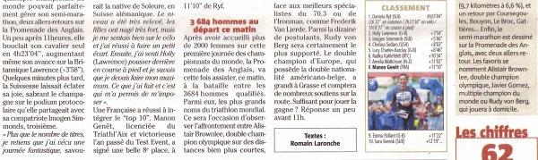 Championnat du Monde 2019 IRONMAN 70.3 (Nice) - Magali 2ème Française (50-54 ans)