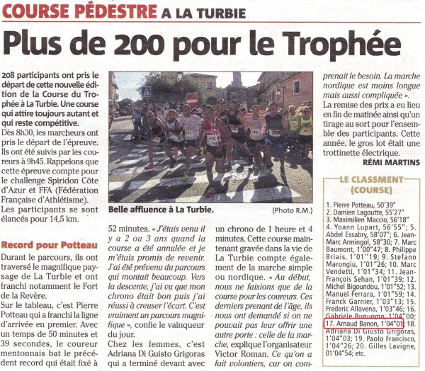 Course du Trophée 2019 (La Turbie, 06)