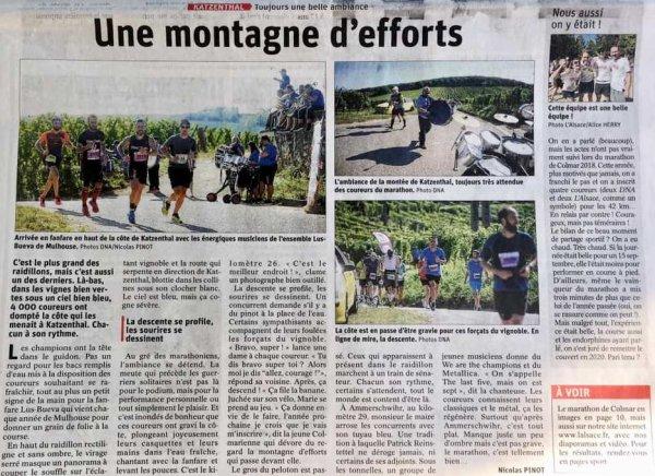 Marathon de Colmar 2019 (Haut-Rhin) - L'ASPTT Nice avec Didier Allou, 2ème Master 2