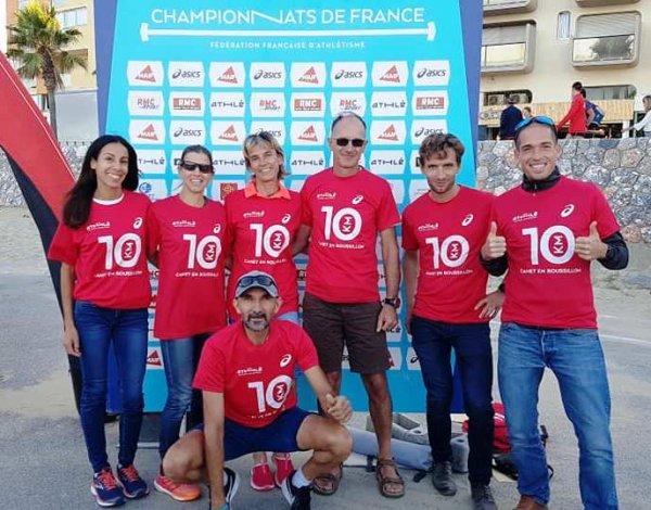 France de 10 km 2019 - Yolande Championne Master 5, JB Vice-Champion Master 2