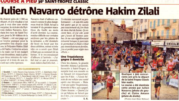 Saint-Tropez Classic et Course du Campanin 2019, les derniers résultats du week-end ? Didier Molina 3ème Master 2 sur 8 km à Saint-Tropez