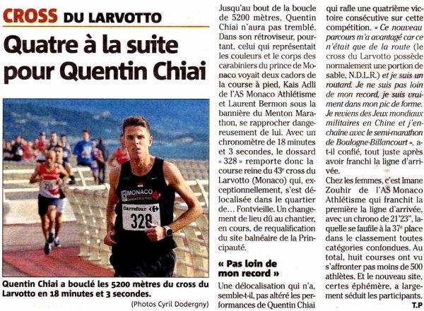 Cross du Larvotto 2019 (Monaco) - Céline et Gaylor en tête de leur catégorie