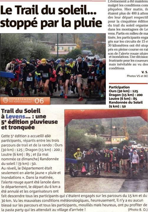 Trail du Soleil 2019 (Levens, Alpes-Maritimes)