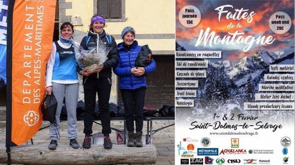 Trail Blanc 2019 de Saint-Dalmas-le-Selvage (06) - Jany Nosmas 3ème Femme