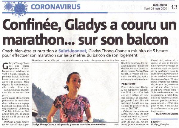 Marathon confiné à Saint-Jeannet...