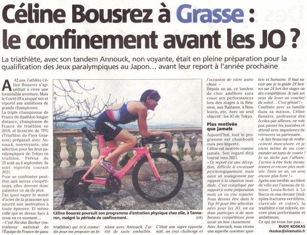 """Entrainement confiné - """"Je ne lâche pas l'affaire"""" (Céline Bousrez)"""