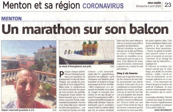 Un balcon pour un marathon !