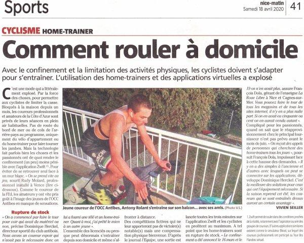 La technologie au secours des cyclistes confinés...