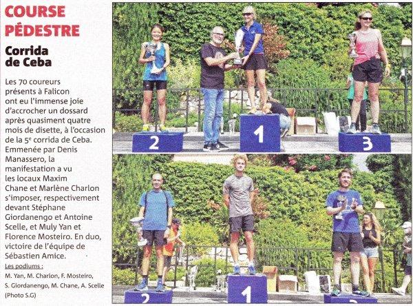 La Corrida de Ceba 2020 (Falicon, 06) - Top 10 pour Sylvain Viallet (7ème)