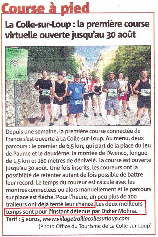 La Course Connectée 2020 de La-Colle-sur-Loup