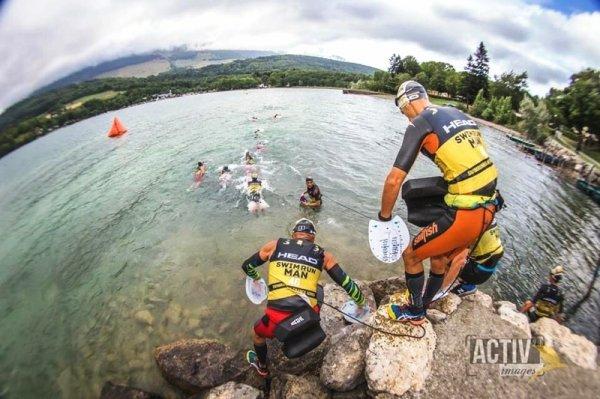 Swimrun Grands Lacs de Laffrey (Isère) - Hugues Plessis sur le Vertical Duo (23ème)