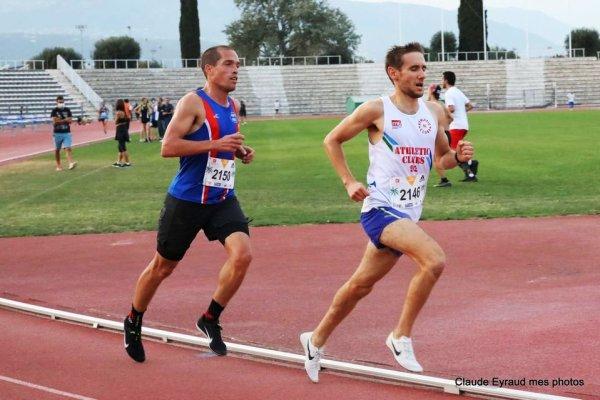 Meeting Nice Côte d'Azur Athlétisme (18/9/2020) - Eric Descamps 3ème sur 3000 m
