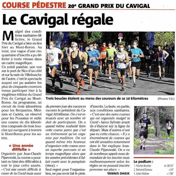 Grand Prix du Cavigal 2020 (Nice) - Sylvain Viallet pour l'ASPTT Nice Côte d'Azur