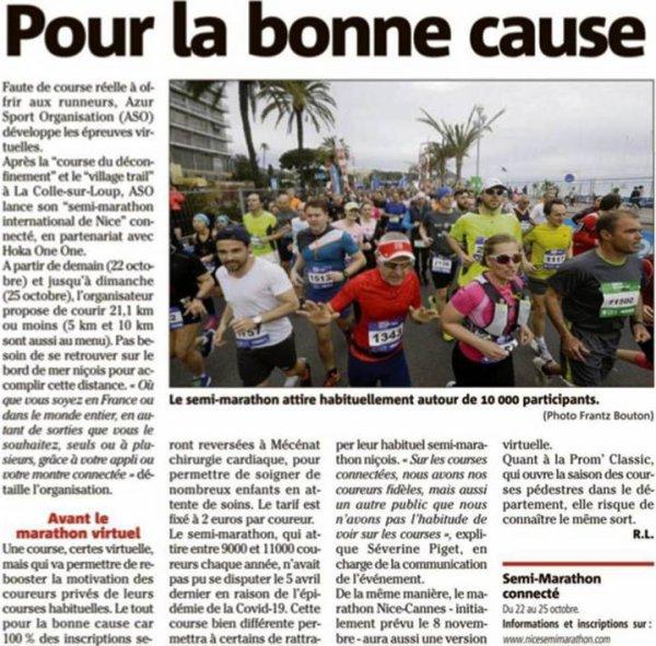 Nice Semi-Marathon connecté Hoka One One 2020