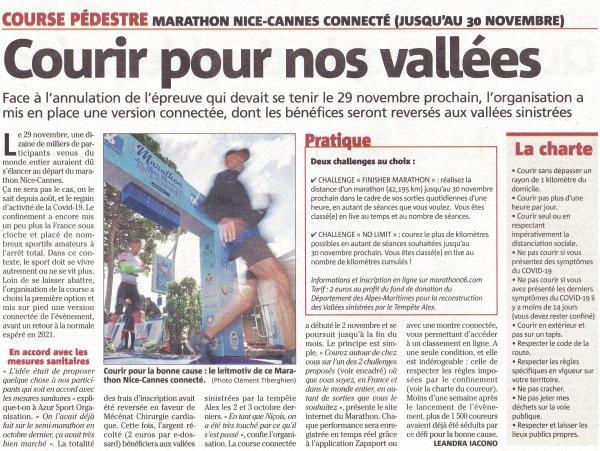 Marathon Nice-Cannes connecté 2020