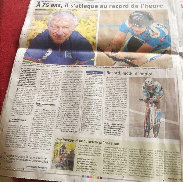 Cyclisme masters - Un record de l'heure peut en cacher un autre...10 ans plus tard !