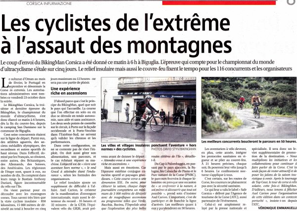 Championnat du Monde d'Ultracyclisme 2020 - BikingMan Corsica (1/2)