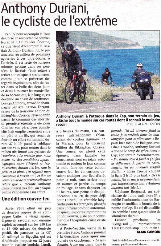 Championnat du Monde d'Ultracyclisme 2020 - BikingMan Corsica (2/2)