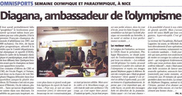"""Stéphane Diagana en """"promoteur"""" du sport et de ses valeurs..."""