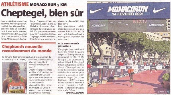 Monaco Run 2021 - Record du monde du 5 km route pour Beatrice Chepkoech
