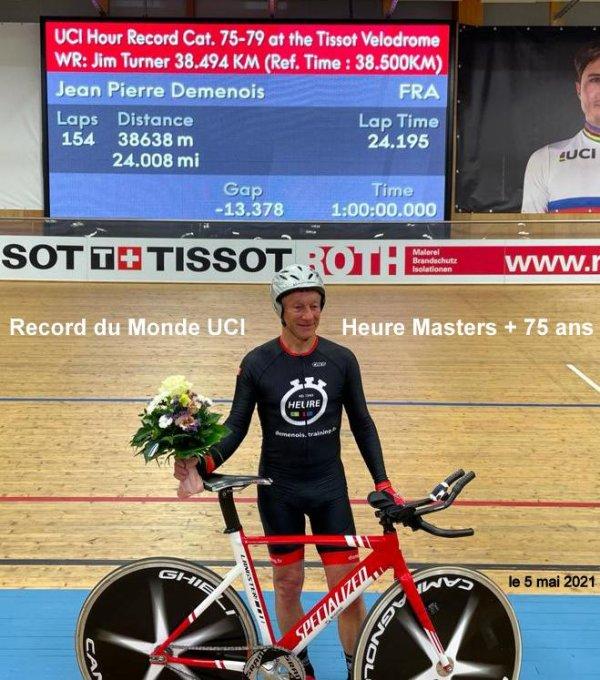 Bis repetita, nouveau record du monde de l'heure Master pour Jean-Pierre Demenois