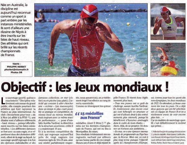 Le Sauvetage Sportif à Nice, une discipline à part entière