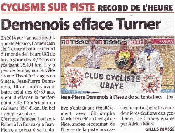 Coulisses d'un record - Jean-Pierre Demenois à l'honneur dans la presse et à La Bocca