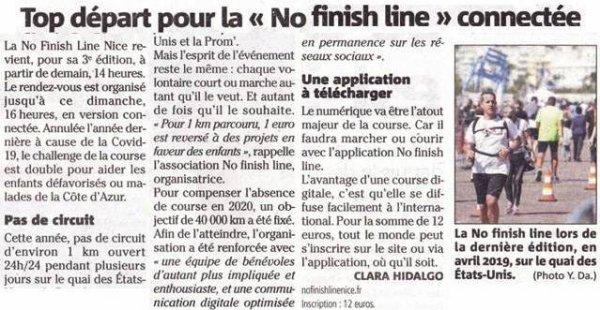 No Finish Line Connectée (Nice) - 26-30 mai 2021