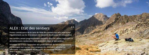 Les sentiers du Massif du Mercantour en 2021 - Vigilance de rigueur pour les traileurs