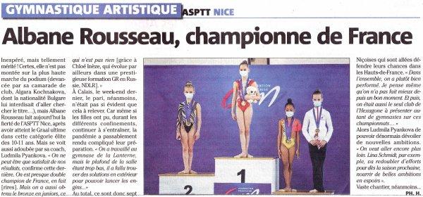L'ASPTT Nice Côte d'Azur à l'honneur sur nice-matin