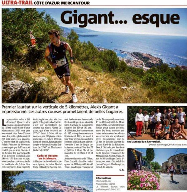 UTCAM 2021 - Alexis Gigant roi du KV, Julien 15ème du 75 km, Florian 13ème du 30 km