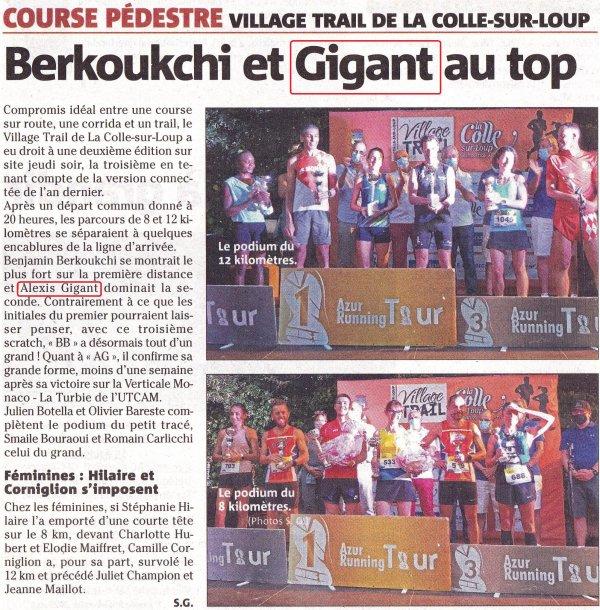 Village Trail La Colle-sur-Loup 2021 - Nouvelle victoire d'Alexis Gigant