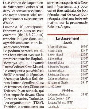 Aquathlon de Villeneuve-Loubet 2021 - Hugues Plessis 11ème