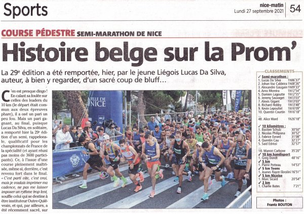 Semi-Marathon et 10 km de Nice 2021 - Alexis 7ème sur Semi, Florian 8ème sur 10 km