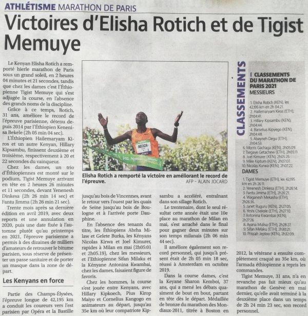 Marathon de Paris 2021 - L'ASPTT Nice avec Romain Queille et Christophe Peyruchat