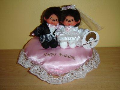 Vive les mariés pour les 30 ans anniversaire Monchhichi 15 CM Japon
