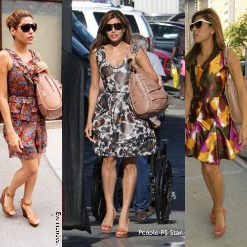 """Eva Mendes [/c=#e4c6bc]sublime désormais toutes ses robes au sac """" Libertine [/c=#e4c6bc]"""", le dernier sac de Dior d'une valeur de 1700 £ !"""