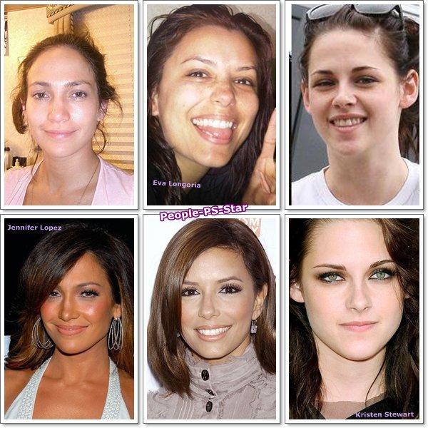 Les stars avec et sans maquillage