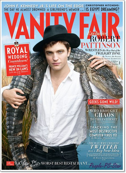Robert Pattinson a la couverture de Vanity Fair