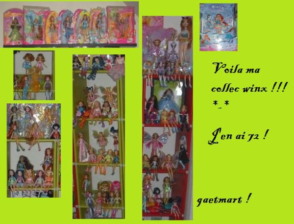 ma collection winx !! *-*