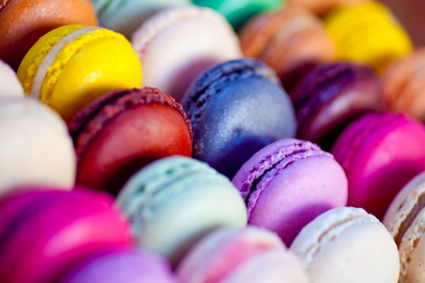Macarons multicolors