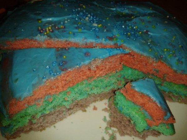 Gâteau Multi-colore