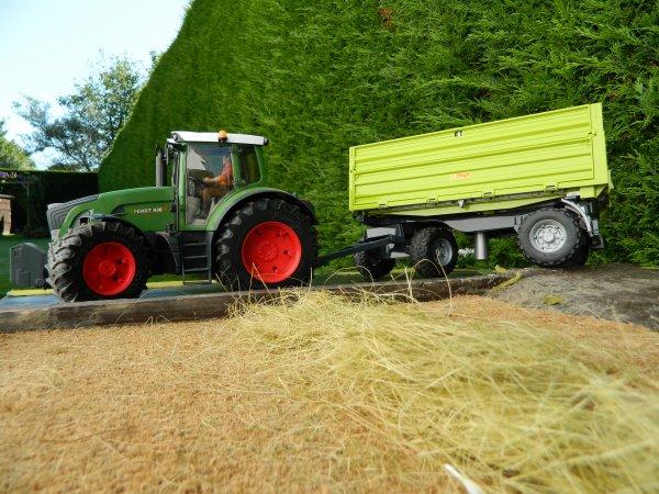 La JD est sortie pour battre les premiers hectares de blé !