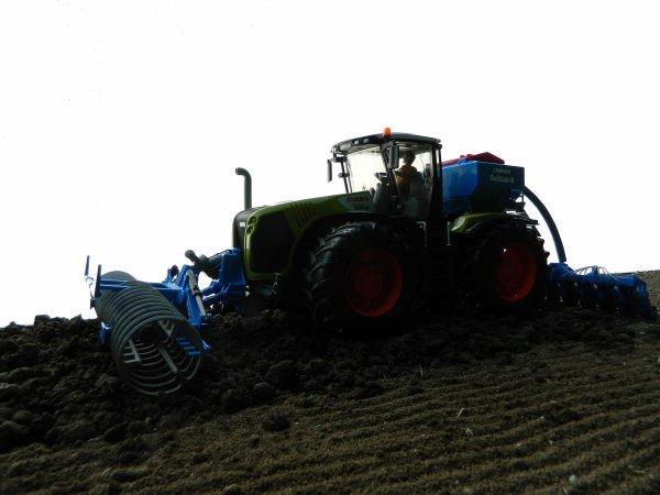 Semis de blé à la ferme ....